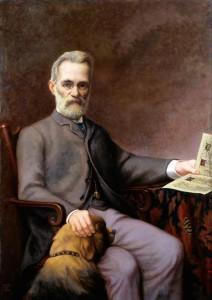 Clay, Arthur Temple Felix; Alfredo Piatti (1822-1901), with His Dog; Royal Academy of Music; http://www.artuk.org/artworks/alfredo-piatti-18221901-with-his-dog-149405