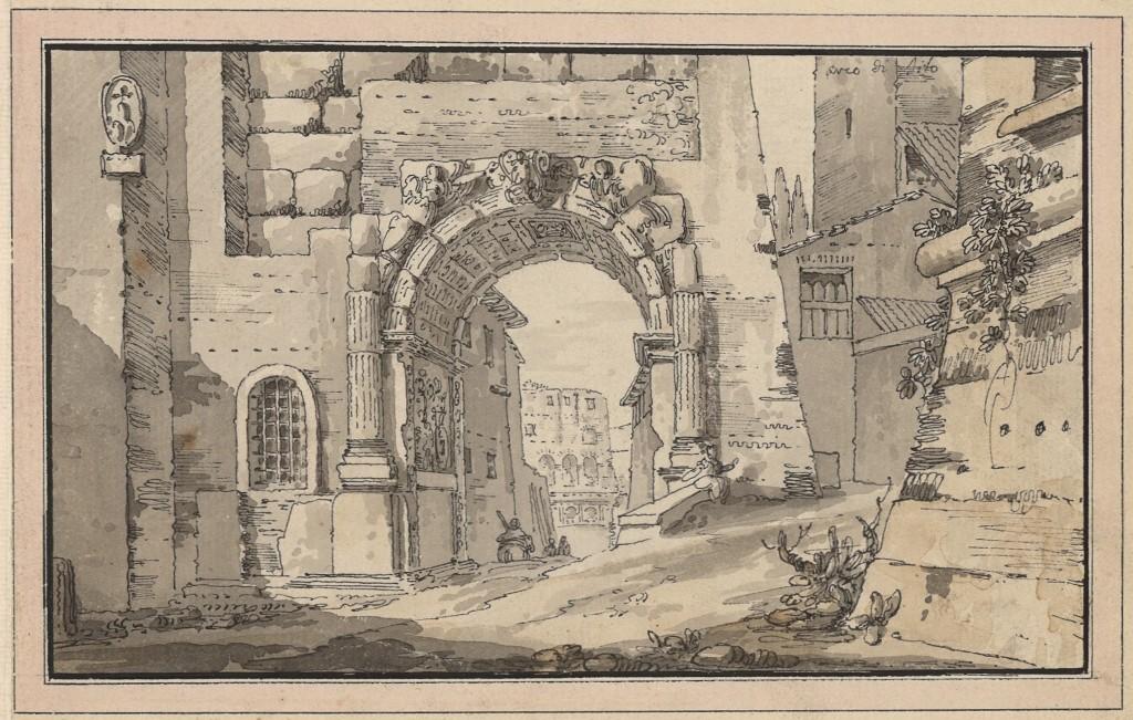 L'arco di Tito nel Foro romano