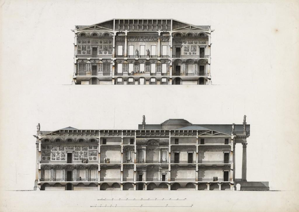 Palazzo Bežborodko per Mosca. Sezioni