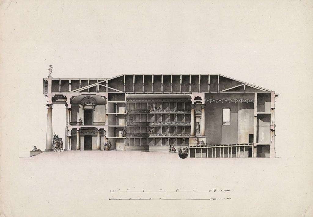 Teatro per Pietroburgo (?). Sezione