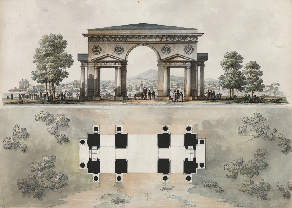 Arco per l'incoronazione dell'Imperatore Paolo I a Mosca