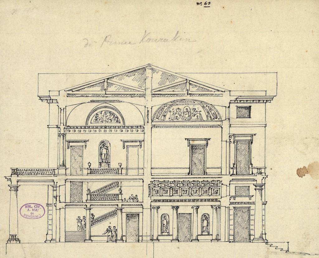 Palazzo per il principe Kurakin. Sezione
