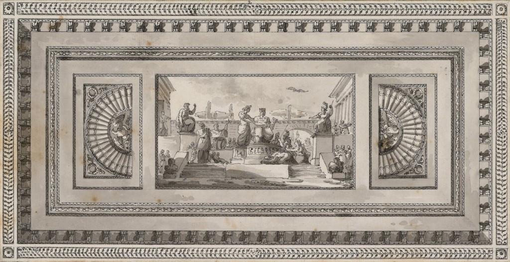 Decorazione di parte del soffitto per la Sala di San Giorgio nel Palazzo Imperiale di Pietroburgo