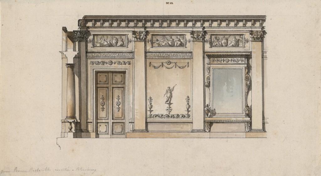 Decorazione di una sala per il principe Bežborodko a Pietroburgo
